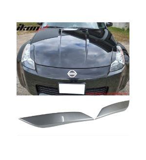 Ikon Motorsports 03-08 350Z Headlight Eyelid Eyebrow Painted #WV2 Diamond Graphite Metallic