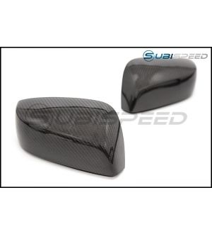 CARBON REPRODUCTIONS REPLACEMENT MIRROR COVERS (NO TURN SIGNAL HOLE) - 2015+ WRX
