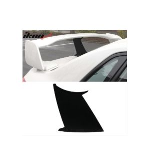 Ikon Motorsports Fits 2008 - 2014 WRX 08- 2011 Subaru Impreza WRX STI Trunk Spoiler Wing 1Pc - ABS