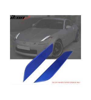 Ikon Motorsports 03-08 350Z Headlight Eyelids Eyebrow Painted #B17 Daytona Blue Metallic