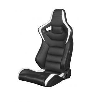 Braum Elite Series Racing Seats (Black & White) - Universal