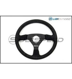 Sparco R 333 Black Suede Steering Wheel - Universal