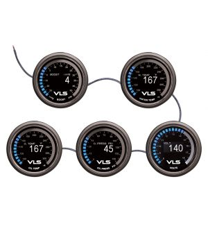 Revel VLS 52mm 30inHg-45PSI Digital OLED Boost Gauge