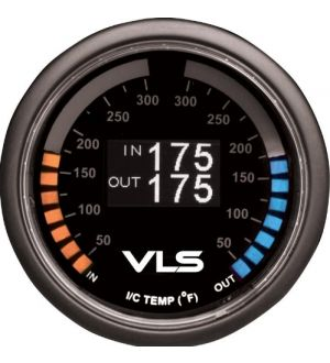 Revel VLS 52mm 50-300 Deg F Dual Intercooler Temperature Gauge