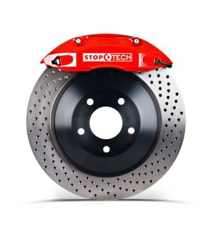 Stoptech 355x32 Big Brake Kit Drilled / Red (Front) - 2013+ BRZ