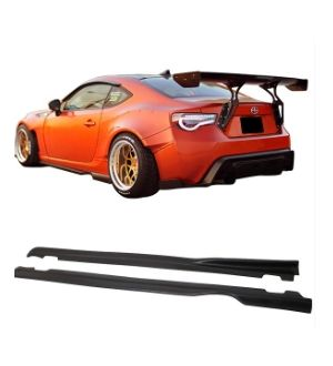 Ikon Motorsports Fits 13-20 Scion FRS & Toyota 86 & Subaru BRZ GR Style Side Skirts - Polyurethane PU