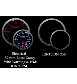 ProSport 52mm Premium Amber / White Electric Boost gauge 0-60 PSI