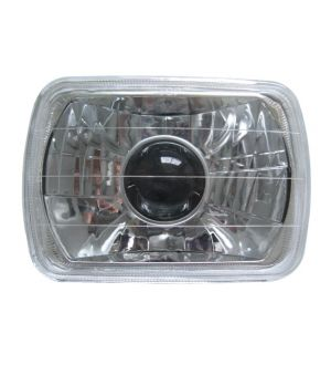 Ikon Motorsports 7 X 6 H4 Bulbs Crystal Clear Projector Headlights