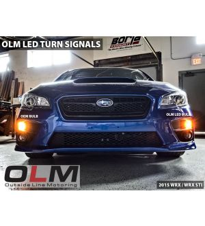 OLM LED Front Turn Signal Bulbs - 2015+ WRX / 2015+ STI / 2013+ BRZ / 2014+ Forester / 2013+ Crosstrek