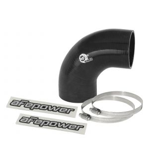 aFe Magnum FORCE CAI Univ. Silicone Coupling Kit (2.75in. ID / 3in. L) 90 Deg. Elbow Coupler - Black