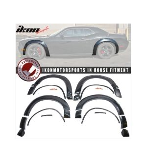 Ikon Motorsports 17-19 Dodge Challenger Demon Model Only Fender Flares DM Style Unpainted PP