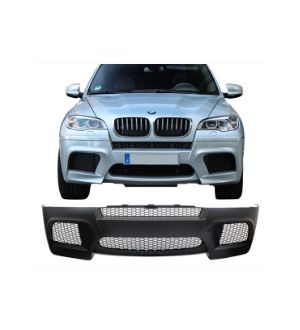 Ikon Motorsports 2010-2013 E70 X5M Style PP Front Bumper Conversion Lower Upper Grille Fender Flare