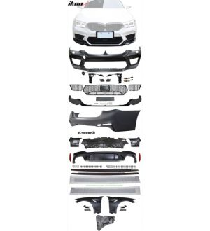 Ikon Motorsports 17-20 BMW G30 to M5 Style Conversion Kit Front Rear Bumper Fender Side Sill