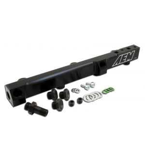 AEM Electronics High Volume Fuel Rail Black - Honda Models (inc. 1990-1993 Accord / 1992-2001 Prelude)