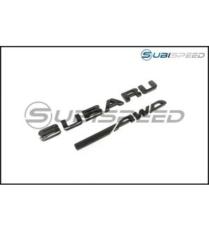 Subaru / Symmetrical AWD Gloss Black Trunk Emblem - 2015+ WRX / 2015+ STI / 2014+ Forester / 2013+ Crosstrek