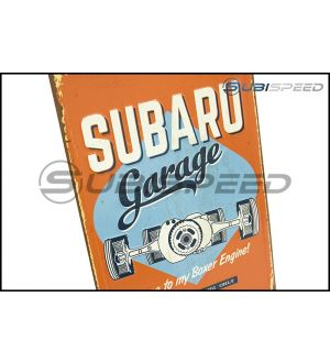 Subaru Vintage Reserved Parking Sign - Universal