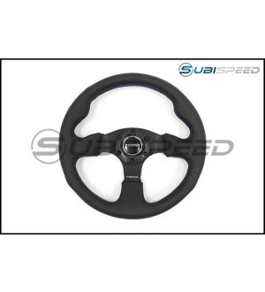 NRG Race Style Suede Steering Wheel 320mm w/ Blue Stitching - Universal