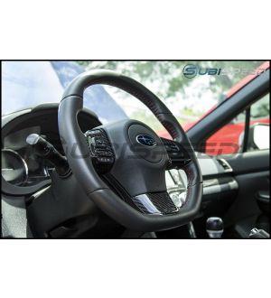 OLM S-line Carbon Fiber Steering Wheel Covers - 2015 WRX / 2015 STI (Manual Transmission)