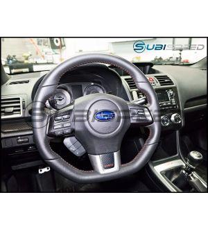 WRX Steering Wheel Inlay (Carbon Fiber or Matte Black) - 2015+ WRX