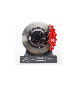 AP Racing Front Red 4 Piston Radi-CAL Brake Kit System, Slotted Rotors (355x32mm) by STILLEN - 2015+ WRX / 2015+ STI