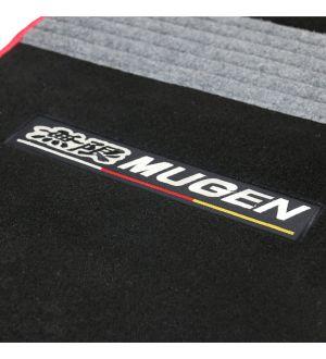 Ikon Motorsports 16-17 Honda Civic Sedan Mugen Floor Mats Black With Gray Stripe