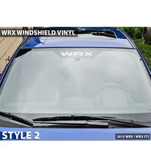 WRX Logo Windshield Vinyl (various styles) - 2015+ WRX / 2015+ STI