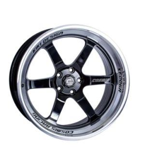 Cosmis Racing Wheels XT-006R Black with Machined lip and spokes 20x9.5 +10mm 6x139.7