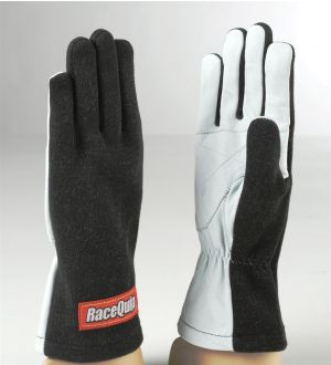 RaceQuip Black Basic Race Glove - X-Large