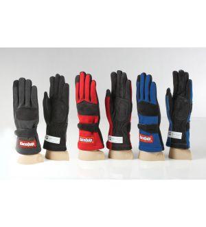 RaceQuip Black 2-Layer SFI-5 Glove Kid - Xsm K7