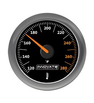 Innovate Motorsports MTX-A: Water / Oil (Fluid) Temperature Gauge