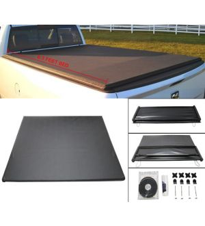 Ikon Motorsports 02-08 Dodge Ram 1500 03-08 Ram 2500 3500 6.3 Feet Bed Tri-Fold Tonneau Cover