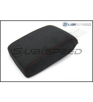 JDM S4 Sliding / Extended Ultrasuede Arm Rest with Red Stitching - 2014+ Forester