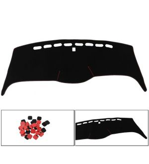 Ikon Motorsports 05-10 Honda Odyssey Car Dashboard Mat Dashmat Non-Slip Dash Cover Black - Nylon
