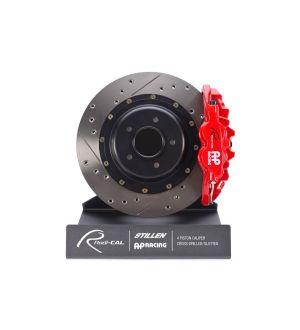 AP Racing Red Radi-CAL Brake Kit System, Drilled and Slotted Rotors (355x32mm) by STILLEN - 2015+ WRX / 2015+ STI