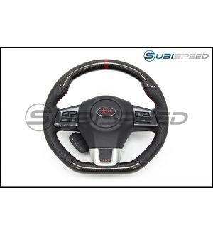SubiSpeed CR Style Carbon Fiber / Leather Steering Wheel - 2015+ WRX / 2015+ STI