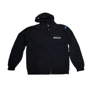 Sparco Zip WWW Sweatshirt Black Small Universal
