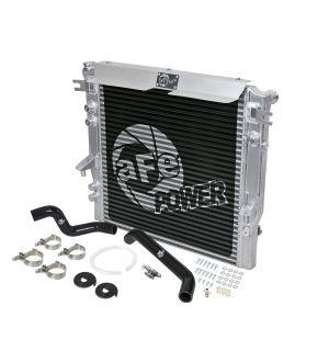 aFe BladeRunner GT Series Bar and Plate Radiator w/ Black Hoses 07-11 Jeep Wrangler (JK) V6 3.8L