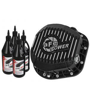 aFe Pro Series Rear Diff Cover Kit Black w/ Gear Oil 86-16 Ford F-250/F-350 V8 7.3L/6.0L/6.4L/6.7L