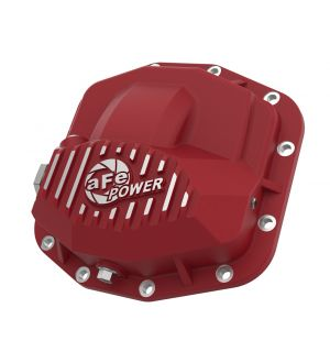 aFe Power Pro Series Front Differential Cover Red w/Machined Fins 18-19 Jeep JL (Dana M210)