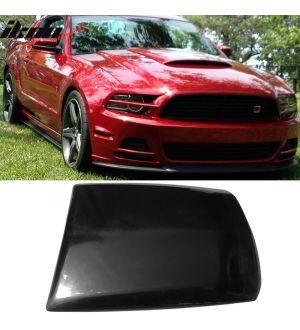 Ikon Motorsports 13-14 Ford Mustang V6 GT Boss Air Hood Vent Scoop Unpainted Black PU Urethane