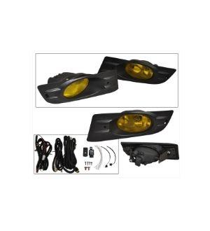 Ikon Motorsports 06-07 Honda Accord 2Dr Coupe Yellow Lens Fog Lights JDM