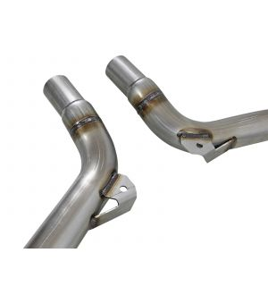 aFe Twisted Steel  Street Connection Pipes Stainless 11-19 Dodge Challenger V6-3.6L