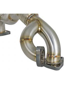 aFe Twisted Steel Header Up-Pipe 08-10 Ford Diesel Trucks V8-6.4L (td)
