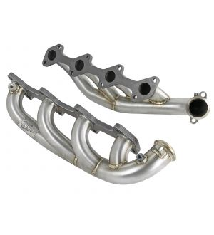 aFe Twisted Steel 1.75-2in 304 SS Headers 03-07 Ford Diesel Trucks V8-6.0L (td)