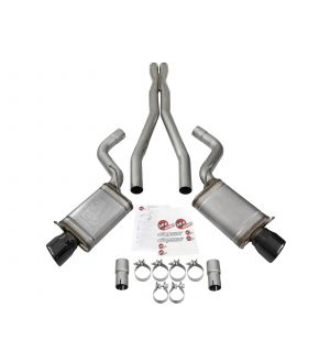 aFe Mach Force-Xp 3in CB Stainless Steel Dual Exhaust System w/ Black Tips 09-15 Cadillac CTS-V