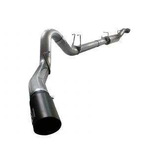 aFe MACHForce XP 5in Exhaust Down Pipe Back SS 08-10 Ford Diesel Trucks V8 6.4L (td) w/ Black Tip