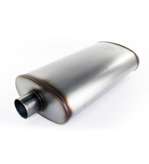aFe MACHForce XP Exhausts Mufflers SS-409 EXH Muffler 3In/Out 5x11 Body Brushed