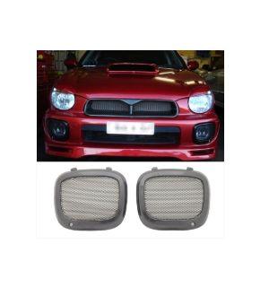 Ikon Motorsports 02-03 Subaru Impreza WRX Sti JDM Mesh Fog Lights Light Lamp Covers ABS