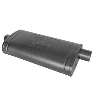 aFe MACH Force-Xp 409 SS Muffler w/ Black Finish 3in Center/Offset 22in L x 11in x 5in - Oval Body