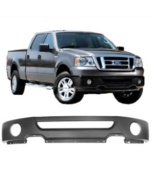 Ikon Motorsports Fits 06-08 Ford F-150 Mark LT Black Front Step Bumper Face Bar Grille Steel